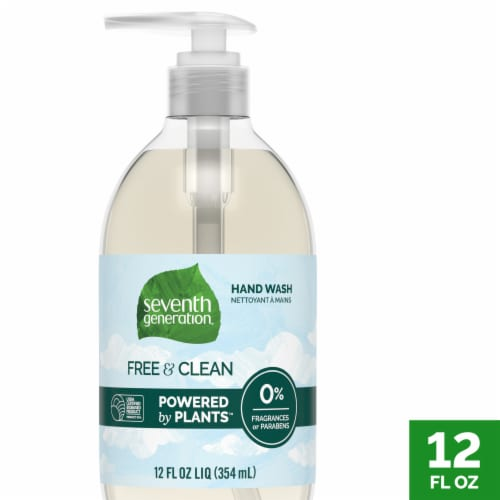Seventh Generation Free and Clean Fragrance Free Liquid Hand Wash Perspective: front