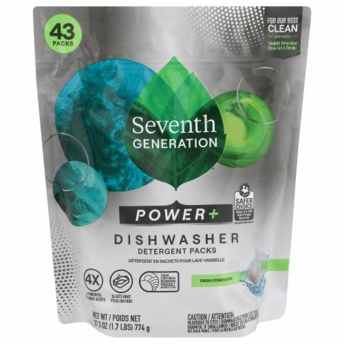 Seventh Generation Ultra Power Plus Fresh Citrus Scent Dishwasher Detergent Packs Perspective: front