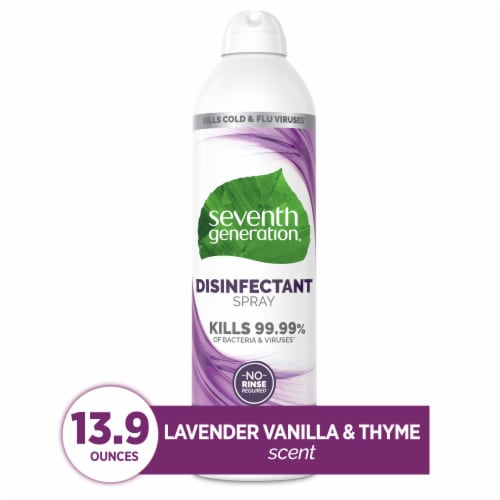 Seventh Generation Lavender Vanilla & Thyme Disinfectant Spray Perspective: front