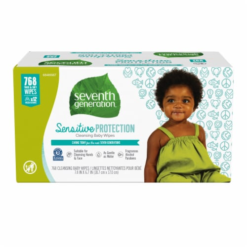 Seventh Generation  Free & Clear Baby Wipes Perspective: front