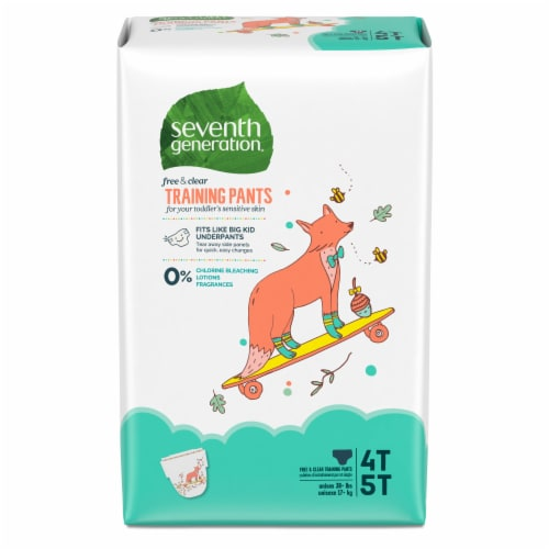 Seventh Generation Free & Clear 4T-5T Training Pants Perspective: front