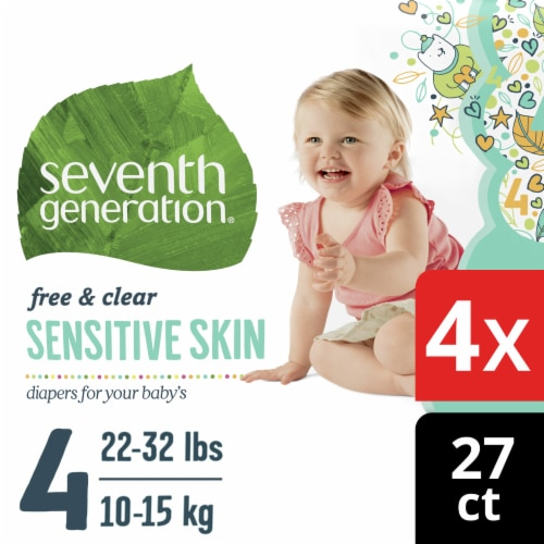 Seventh Generation Free & Clear Size 4 Diapers Perspective: front