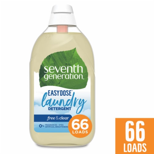 Seventh Generation Free & Clear EasyDose Ultra Concentrated Liquid Laundry Detergent Perspective: front