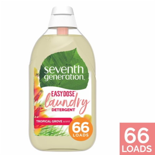 Seventh Generation Concentrated Tropical Liquid Laundry Detergent Perspective: front