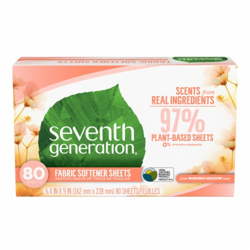 Seventh Generation Morning Meadow Fabric Softener Sheets Perspective: front