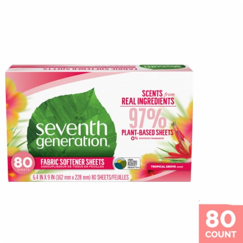 Seventh Generation Tropical Grove Fabric Softener Sheets Perspective: front