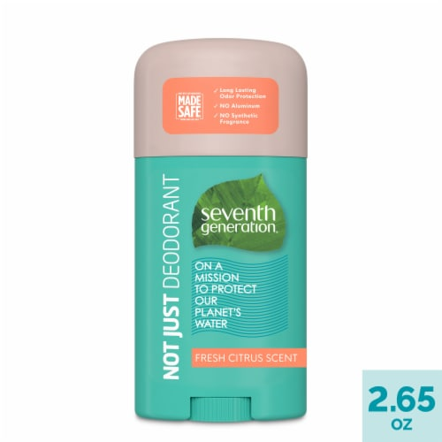 Seventh Generation Fresh Citrus Aluminum Free Solid Deodorant Perspective: front