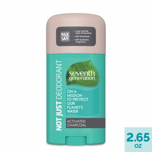 Seventh Generation Activated Charcoal Solid Deodorant Stick Perspective: front