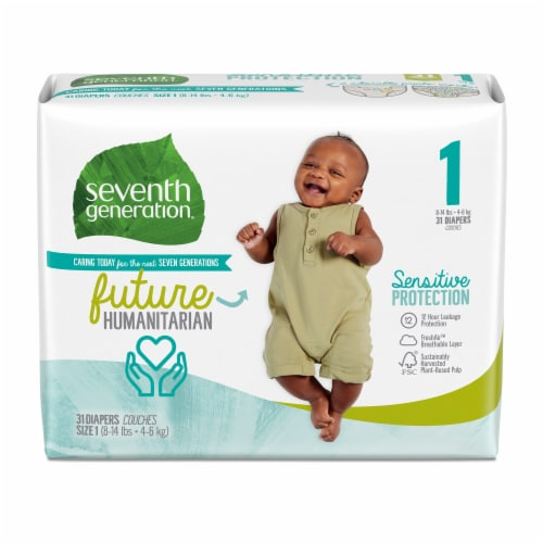 Seventh Generation Size 1 Diapers Perspective: front