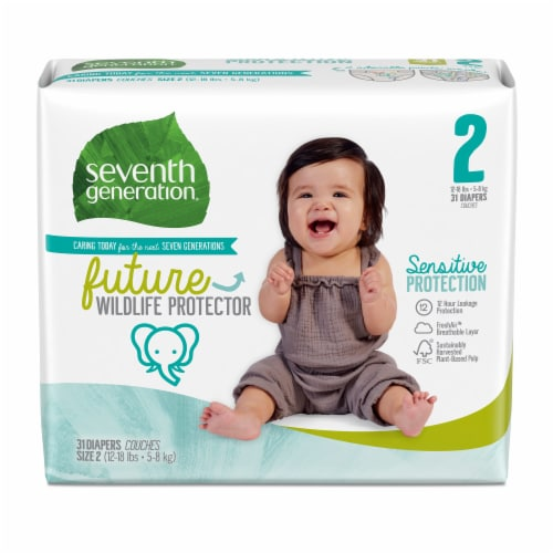 Seventh Generation Size 2 Diapers Perspective: front
