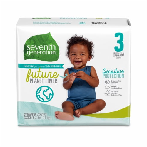 Seventh Generation Size 3 Diapers 27 Count Perspective: front