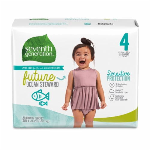 Seventh Generation Size 4 Diapers 25 Count Perspective: front