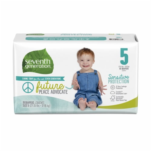 Seventh Generation Size 5 Diapers 19 Count Perspective: front