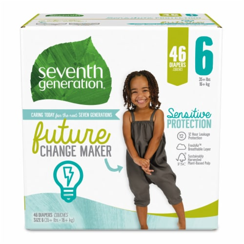 Seventh Generation Size 6 Diapers Perspective: front