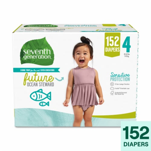 Seventh Generation Size 4 Diapers 152 Count Perspective: front