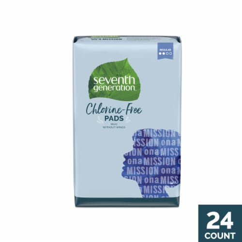 Seventh Generation Regular Free & Clear Chlorine-Free Pads Perspective: front