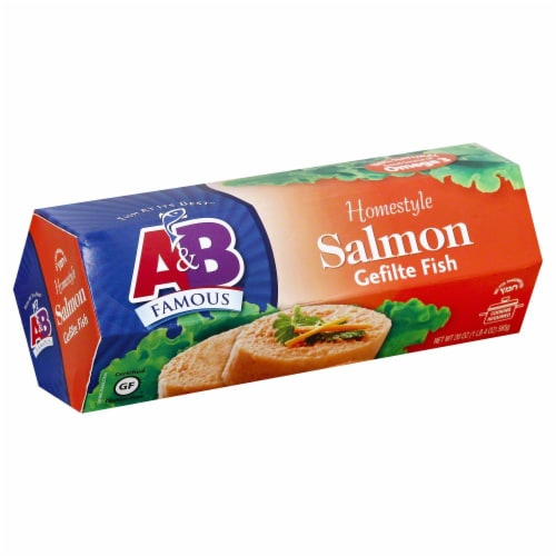A&B Famous Homestyle Salmon Gefilte Fish Perspective: front