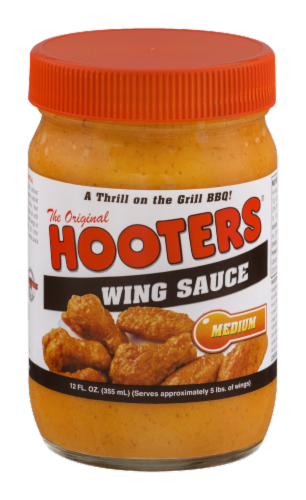 Hooters Medium Wing Sauce Perspective: front