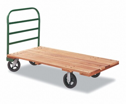 Sim Supply Platform Truck,1000 lb.,30 In. x 18 In. E-95-Q-1830-RTE-W/408-HDL Perspective: front