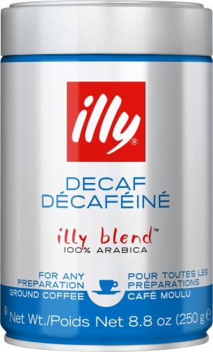 Illy Caffe Decaf Medium Roast Ground Coffee Perspective: front