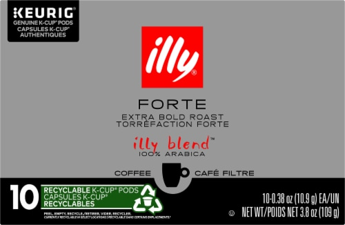 Illy Caffe Forte Extra Dark Roast K-Cup Pods Perspective: front