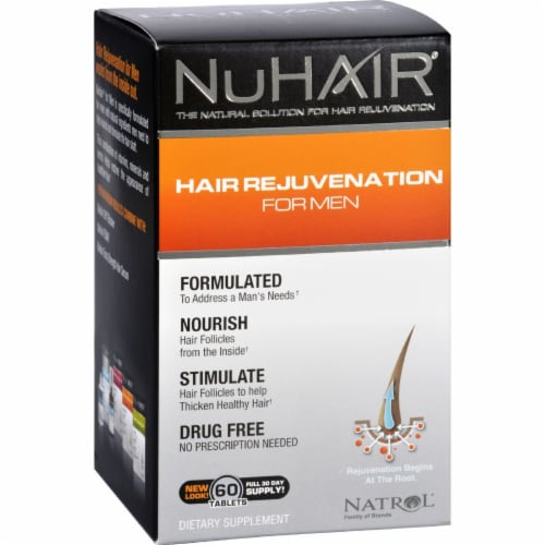 Natrol NuHair Hair Regrowth for Men Perspective: front