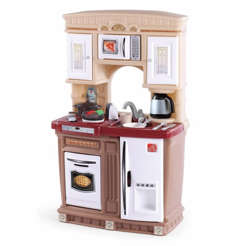 Step2 Lifestyle Fresh Accents Kids Play Pretend Kitchen Playset w/ Accessory Set Perspective: front