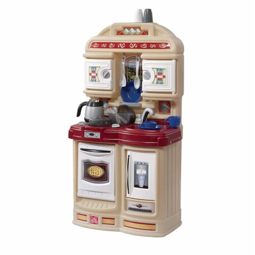Step2 Cozy Kids Compact Play Pretend Kitchen Playset with 21 Piece Accessory Set Perspective: front