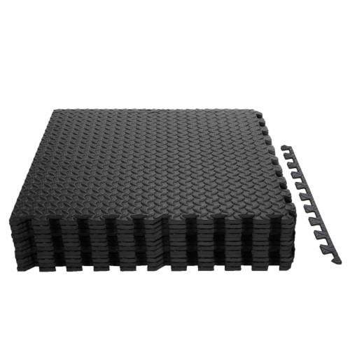 Costway 12Tiles 1/2'' Puzzle Exercise Floor Mats w/EVA Foam Interlocking Tiles (25''x25'') Perspective: front