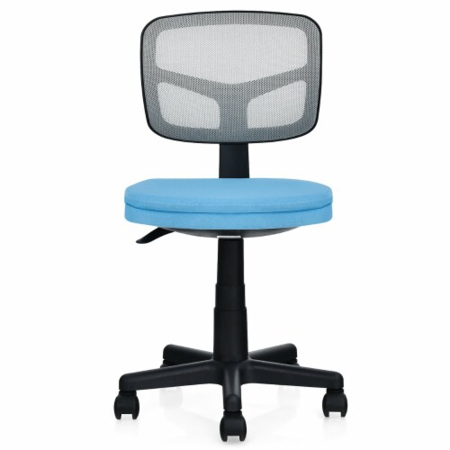Costway Armless Office Chair Adjustable Swivel Computer Mesh Desk Chair Green\\Blue\\Gray Perspective: front