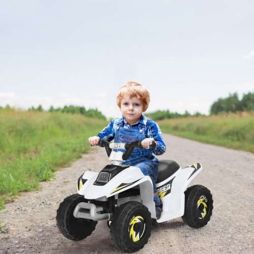 Costway 6V Kids Electric Quad ATV 4 Wheels Ride On Toy Toddlers Forward&Reverse Perspective: front