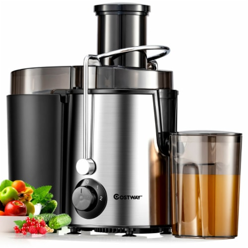 Costway Juicer Machine Centrifugal Juice Extractor Wide Mouth & 2 Speed BPA Free Perspective: front