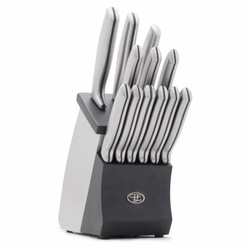 Hampton Forge Kobe Stainless Steel Knife Block Set Perspective: front