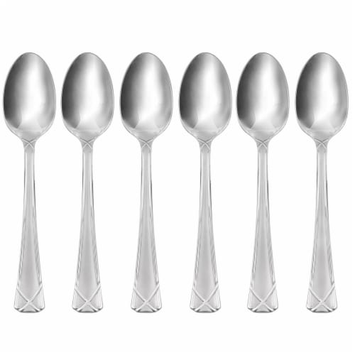 Hampton Forge Evansville Frosted Demitasse Spoons - Silver Perspective: front
