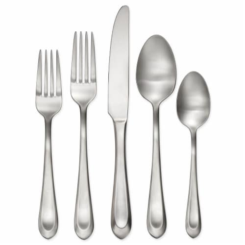 Hampton Forge Bristol Satin Cutlery Set for 12 Perspective: front