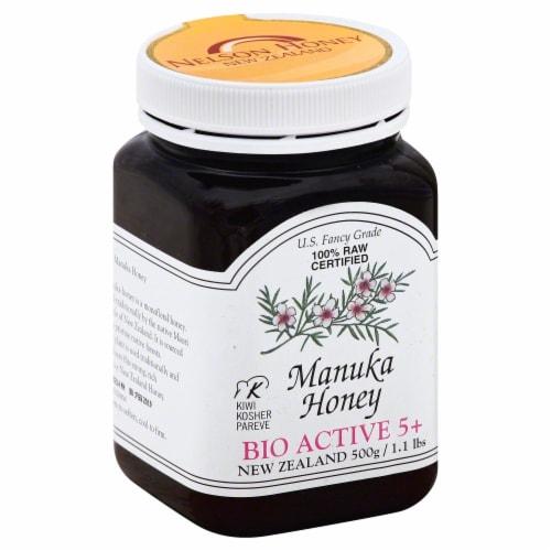 Nelson New Zealand Manuka Honey Perspective: front