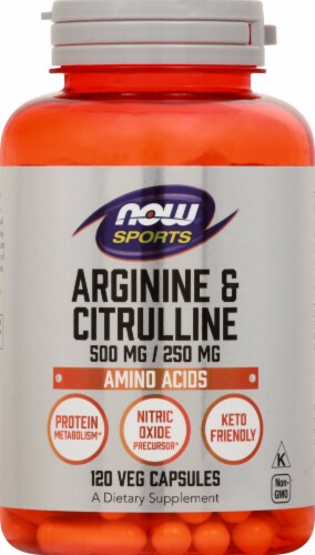 NOW Foods  Sports Arginine & Citrulline Capsules Perspective: front