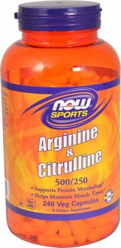 NOW Foods  Arginine & Citrulline Perspective: front