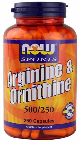 NOW Foods  Sports Arginine & Ornithine Perspective: front