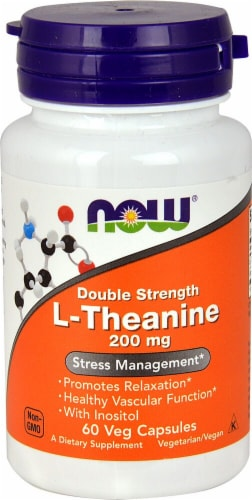 NOW Foods  L-Theanine Double Strength Perspective: front