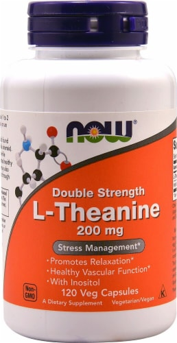 NOW  L-Theanine Double Strength Perspective: front