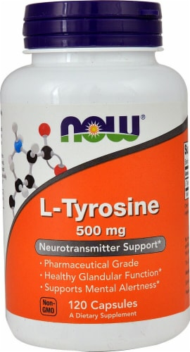 NOW  L-Tyrosine Perspective: front