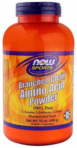 NOW   Sports Branched Chain Amino Acid Powder Perspective: front