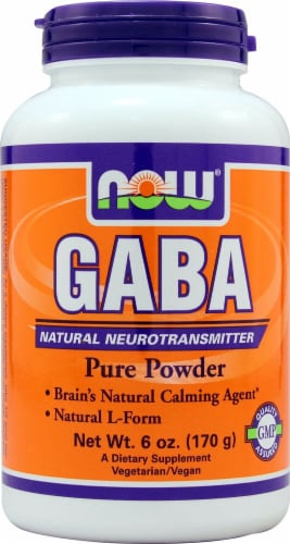 NOW Foods  GABA Pure Powder Perspective: front
