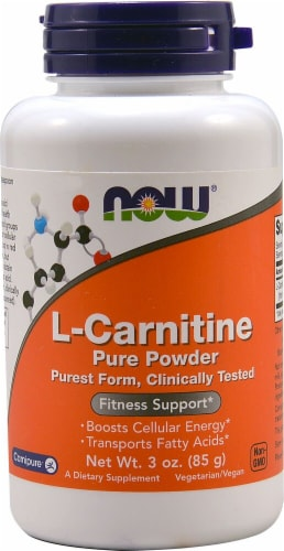NOW  L-Carnitine Pure Powder Perspective: front