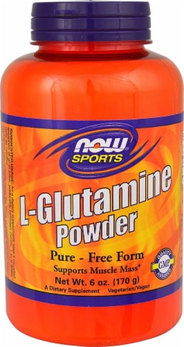 NOW  Sports L-Glutamine Powder Perspective: front