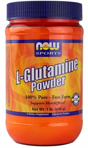 NOW Foods  Sports L-Glutamine Powder Perspective: front