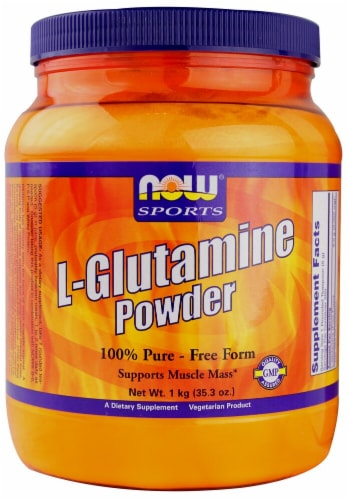 NOW Foods  Sports L Glutamine Powder Perspective: front