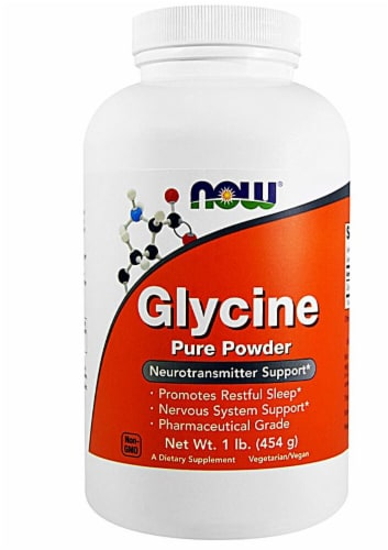 NOW Foods  Glycine Pure Powder Perspective: front