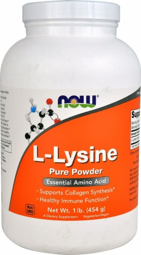 NOW Foods  L-Lysine Pure Powder Perspective: front